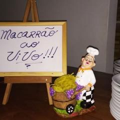 MACARRÃO FLAMBADO AO VIVO